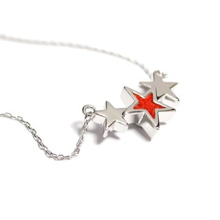 Handmade Red Star Necklace