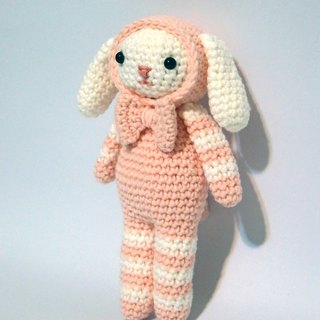 Aprilnana_crochet long ear pink dog