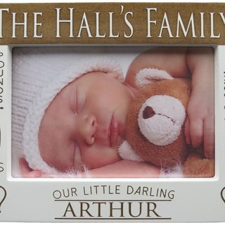 Customized Carved Wood Photo Frame (4R Photo) – BB was born!! Theme x Personalization
