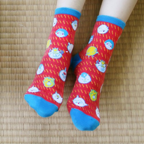 Daewoo socks ::: ::: smiling sun - the sun Red | optionally comes with two pairs of exquisite postcard.