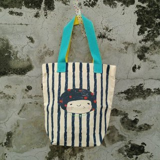 LovE to Dreams little girl. Out bag stripes - blue
