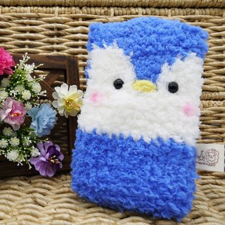 Marshmallow animal cell phone pocket - Penguin