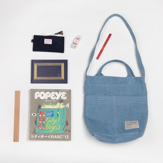 ntmy. denim work shoulder bag backpack oblique backpack