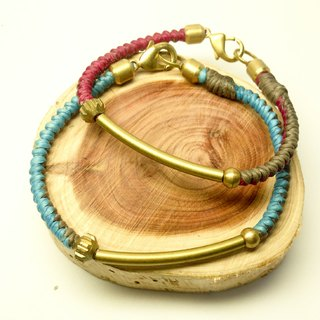 Color gentleman. Simple series ◆ Sugar Nok ◆ hand-woven wax wire bracelet brass