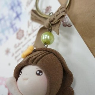 Handmade mini koli girl doll key ring Charm