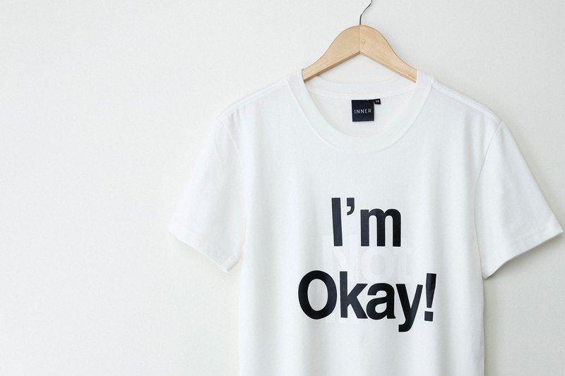 ? INNER |? I'm okay is that right T-Shirt - milky