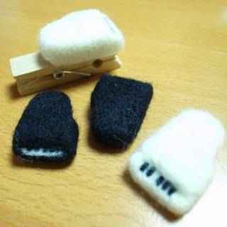 (On Hand) sheep blankets Music Series - Piano wooden clip (black + white as a group)