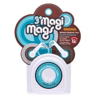 3+ MagiMags Magnetic Tape   19mm x 3M Neon.LightBlue