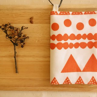 Kyoto fabric Passport Holder - mountaineering (Valentine's Day free embroidered words)