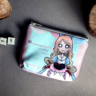 Mezzanine purse l original Alice Alice illustrations l chocolate Alice models
