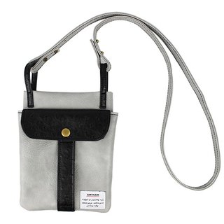 AMINAH-grey casual dual-use bag [am-0276]