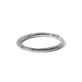 ■CHIEH-CHIEH ■ twist section - opening and closing sterling silver bracelet hollow design