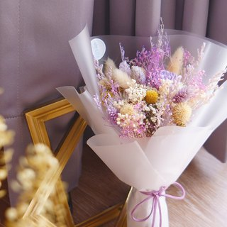 Amor Floral - Purple Long Dry Bouquet / Valentine's Day Chinese Valentine's Day