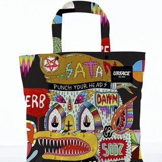 [URFACE] 2nd Artist Series / P7 design limited edition Shopping Bag / Black