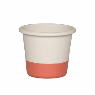 RIESS x Sarah Wiener joint paragraph enamel Muffin cup mold 8 * 8cm (cream / soft peach pink)
