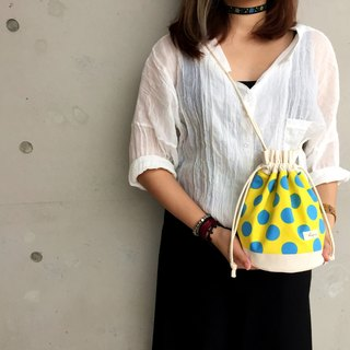 Dots and dots / American Cotton print / Shoulder bag  crossbodies  bucket bag