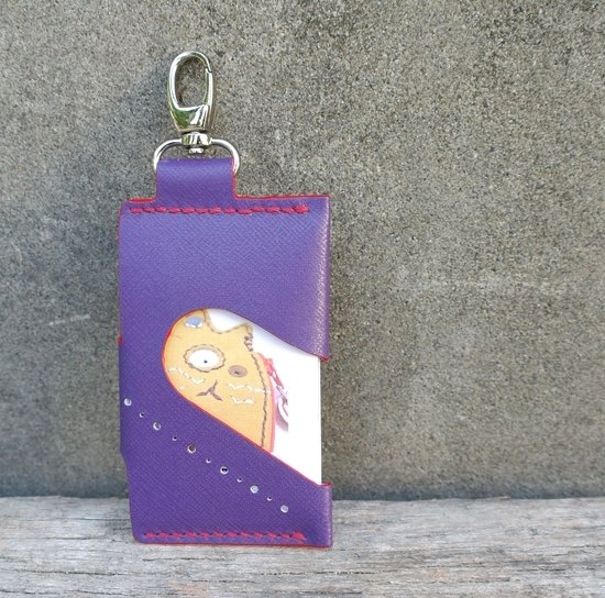 Purple button card sets hand-sewn 140926