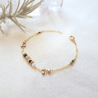Floating World ‧ brass crystal classic fine bracelet
