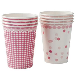 """Feelings § pink cups"" Britain Talking Tables Party Supplies"