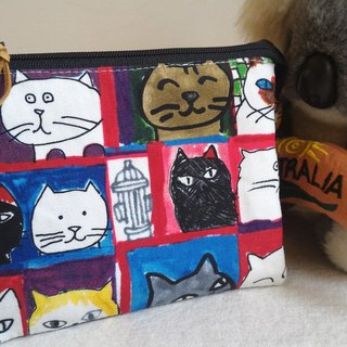 Hand-painted cat five-layer bag - a practical package for mothers, mother's day gift