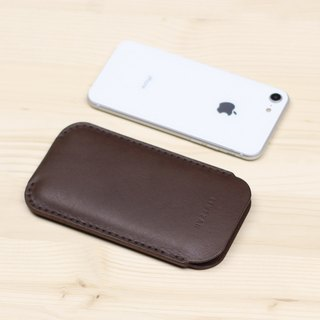 iPhone case holster -- deep coffee (bare machine use)