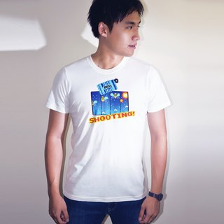 buyMood Shooting Retro Videogame Round-Neck T-Shirt