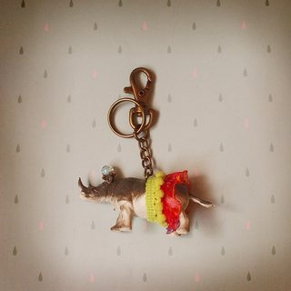 Gorgeous adventure - rhino keychain