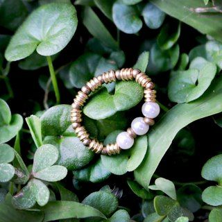 White three -half's half pure brass bracelet