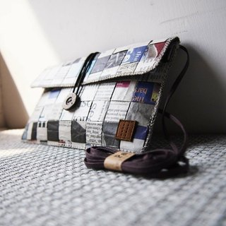 Paralife Custom Size Newspaper Clutch / Baguette / Shoulder Bag / Phone Pouch
