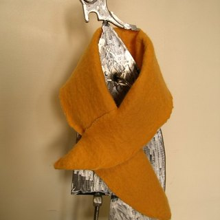 Wool felt sided small scarf