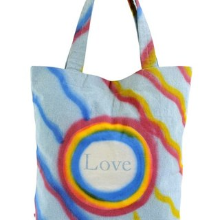 Love Is in the Air Denim Tote Bag