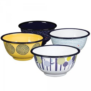 British Folklore enamel bowl day with supper gift