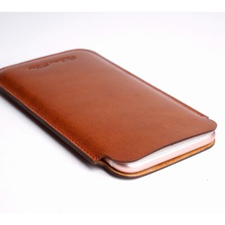 5.5-inch /5.7 inch Phone case  Light Brown / Black