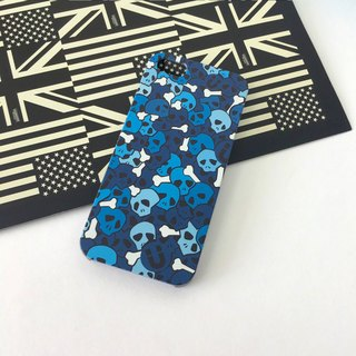 Skull Blue Pattern Print Soft / Hard Case for iPhone X,  iPhone 8,  iPhone 8 Plus, iPhone 7,  iPhone 7 Plus