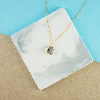 Edith & Jaz • Birthstone Collection - Grey Topaz (June) Necklace