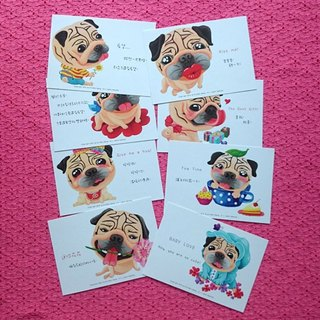 Postcard-Draw My Pug Life (Part.3)