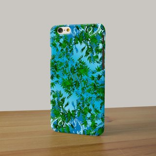 Green leaves art blue 105 3D Full Wrap Phone Case, available for  iPhone 7, iPhone 7 Plus, iPhone 6s, iPhone 6s Plus, iPhone 5/5s, iPhone 5c, iPhone 4/4s, Samsung Galaxy S7, S7 Edge, S6 Edge Plus, S6, S6 Edge, S5 S4 S3  Samsung Galaxy Note 5, Note 4, Note