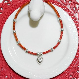 Thai silk wax line X silver _ sweetheart love / / can choose color / / # Valentine's Day gift