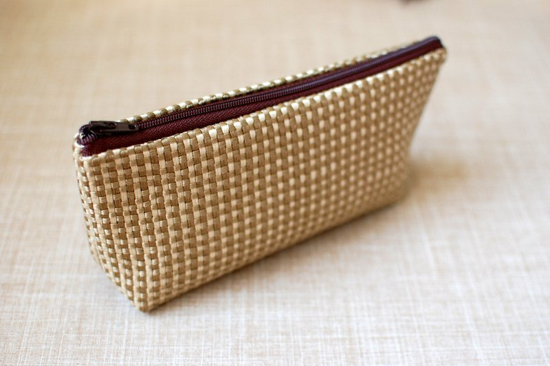 Casual-life hand-made knitting pattern cosmetic bag / Pencil