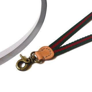 New Listing Offer - Taste badge lanyard - hook hanging - red and green stripes