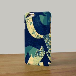 Floral pattern teal flower 3D Full Wrap Phone Case, available for  iPhone 7, iPhone 7 Plus, iPhone 6s, iPhone 6s Plus, iPhone 5/5s, iPhone 5c, iPhone 4/4s, Samsung Galaxy S7, S7 Edge, S6 Edge Plus, S6, S6 Edge, S5 S4 S3  Samsung Galaxy Note 5, Note 4, Note
