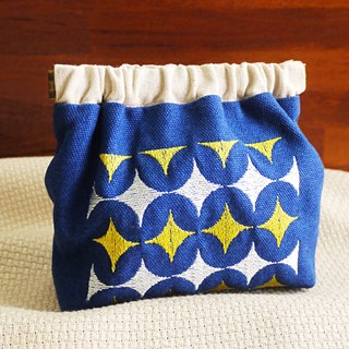 Bright star pattern embroidery shrapnel gold deposit bag wallet (embroidered in English name please note)