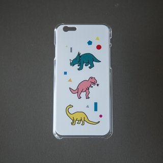 I am a hand tonight - Triceratops tyrannosaurus rex / iphone5 / 5s / 6 = 6s also apply / 6 + / 7/7 + / 8/8 + / X phone shell - white hard shell