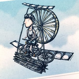 Fly Me in the Air - artwork available in Greeting Card