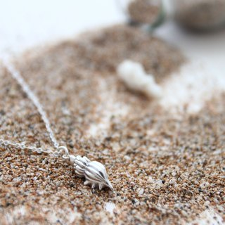// Haus // handmade silver conch Necklace