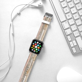 Apple Watch Series 1  , Series 2, Series 3 - Beige Coloured Wood Pattern Watch Strap Band for Apple Watch / Apple Watch Sport - 38 mm / 42 mm avilable