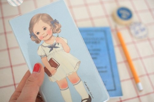 South Korea] [Afrocat paper doll mate pocketbook.2 <Alice> Portable notebook cute hand-made creative