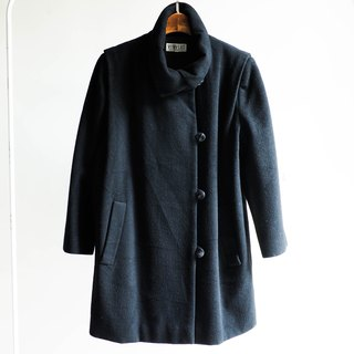 River Water Mountain - Weiliang Day and Deep Black Warm Heart Sheep Antique Fur Coat Jacket Wool
