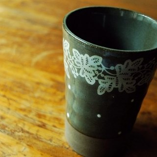 Japan's century-old IZAWA Lirica butterfly lace and little decorative beer mug / high wood stirring a cup of coffee black + long spoon set