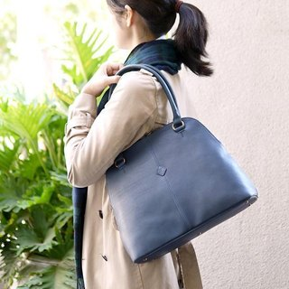 Japanese classic handmade leather shoulder bag Boston bag Made in Japan by CLEDRAN